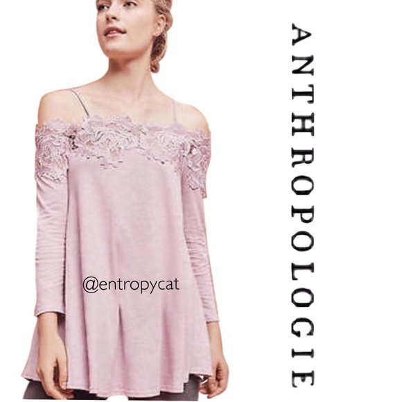 588b7fef93ed9a Anthropologie Tops - Anthropologie Lace Line Off The Shoulder Top